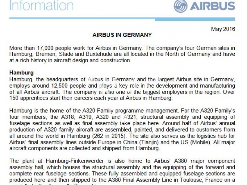 Airbus in Germany