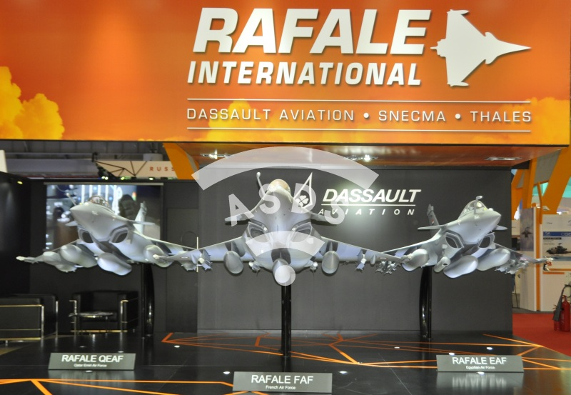 Dassault stand at Dubai Airshow 2015