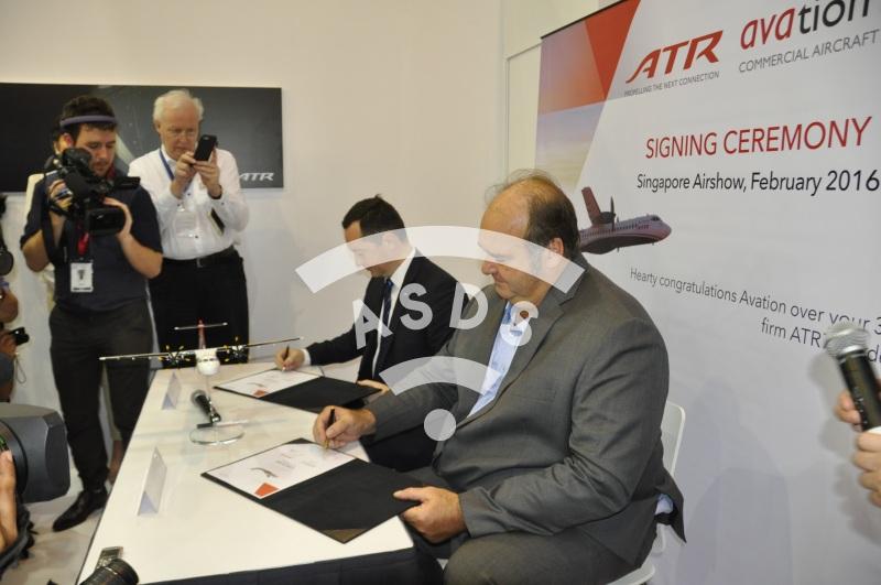 ATR Signing Ceremony at Singapore Airshow