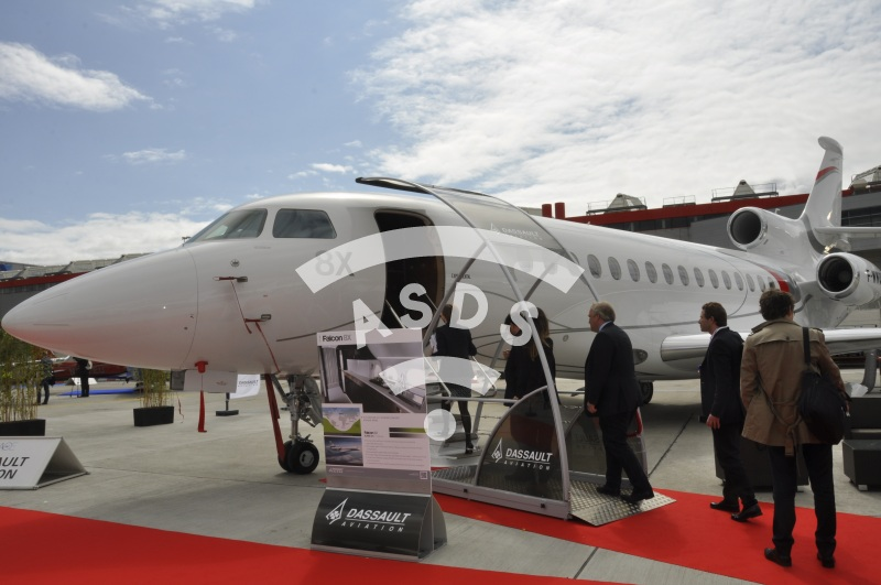 Falcon 8X exhibited at EBACE 2016