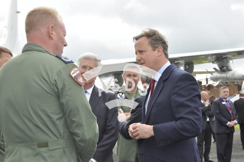 David Cameron opens the Farnborough Airshow