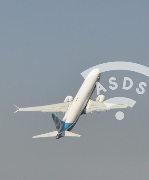 B737 MAX9 validation flight at Le Bourget