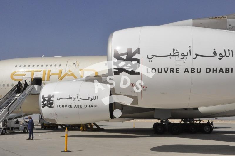 Etihad A380 - Louvre Abu Dhabi