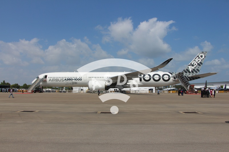 Airbus A350-1000 at Singapore Airshow 2018