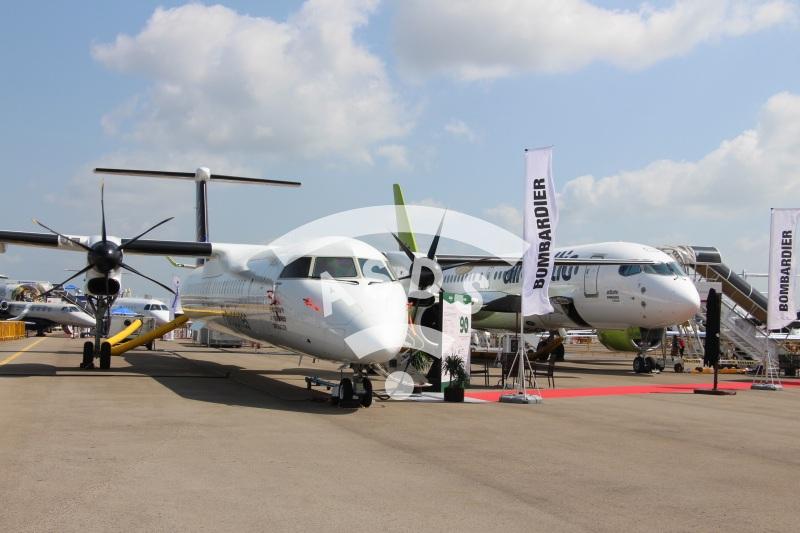 Bombardier static display at Singapore Airshow 2018