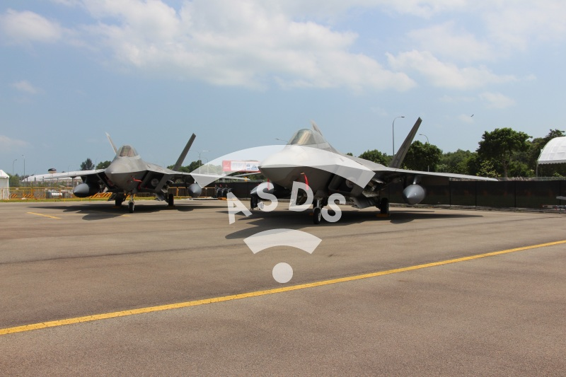 Two F-22 at Singapore Airshow 2018
