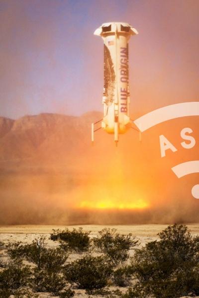 Blue Origin rocket vertical landing