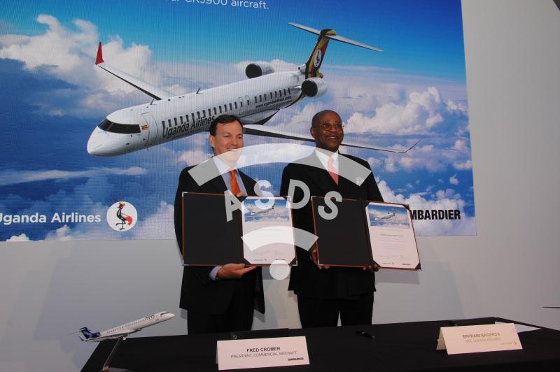 Uganda Airlines orders 4 CRJ900